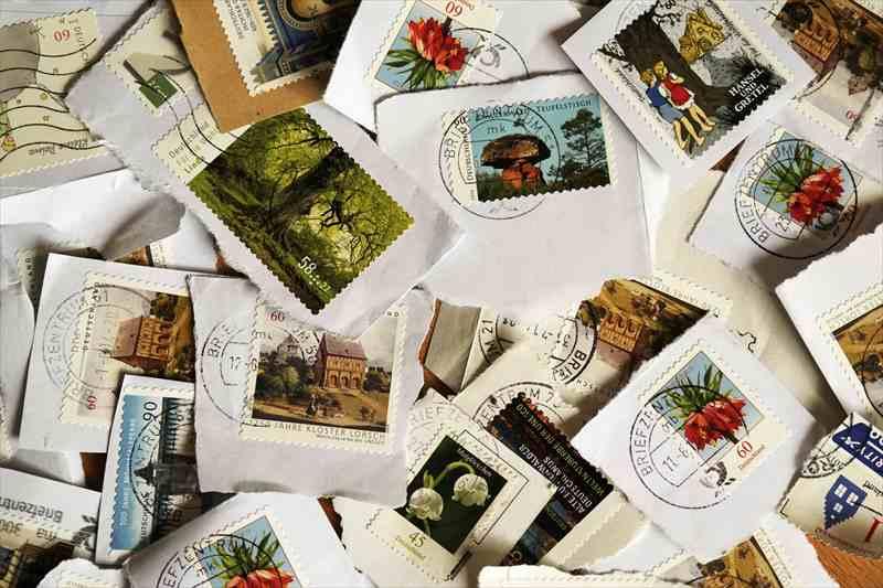 記念切手 外国の切手と封筒