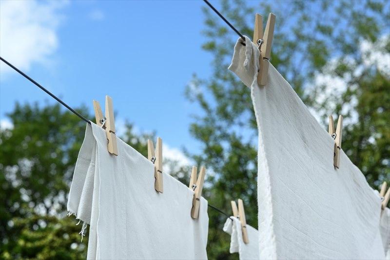 天気のいい日は洗濯