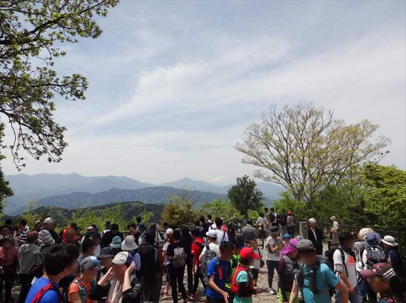 高尾山 山頂の景色