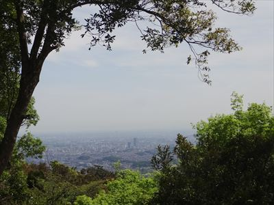 高尾山 リフト乗り場の景色