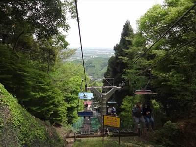 高尾山の下りリフト