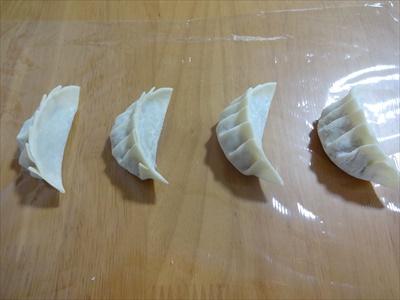 餃子の冷凍方法1