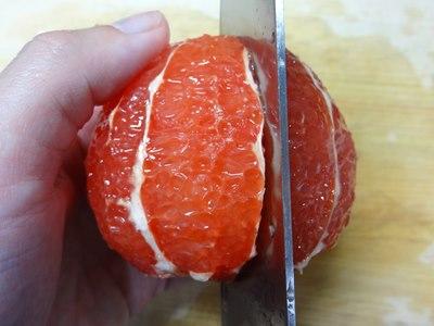 グレープフルーツの剥き方4
