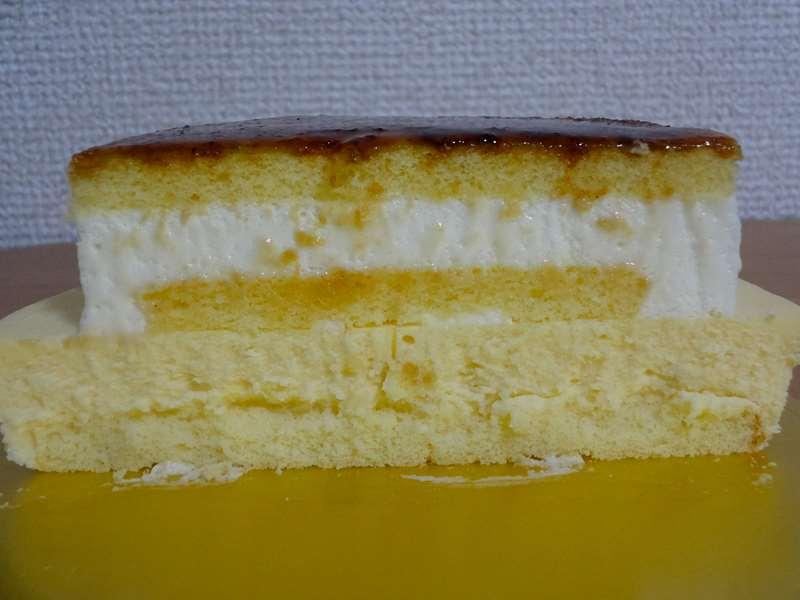 ブリュレチーズケーキの断面