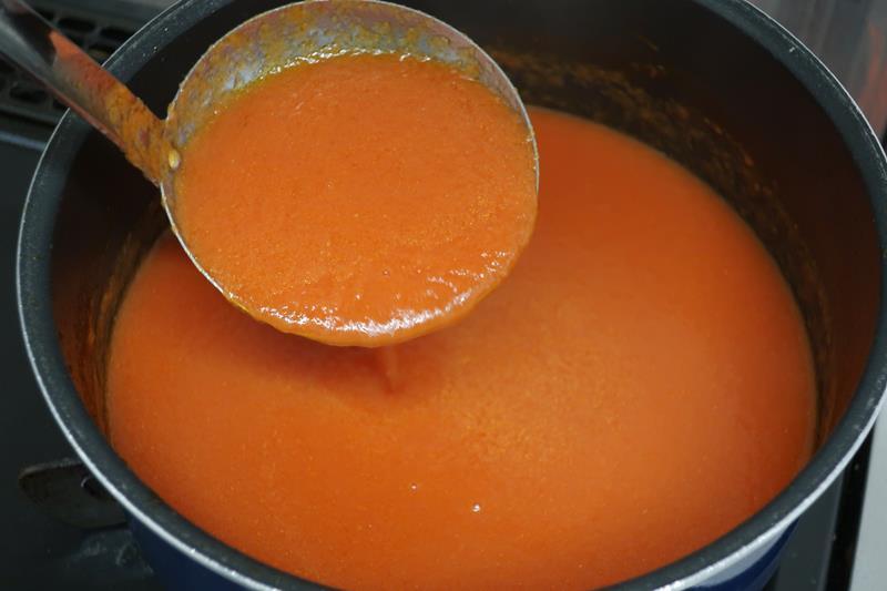 トマトソースの出来上がり